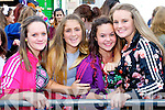 Pictured queuing for the Union J concert at Denny Street on Friday were, from left: Chloe Murphy (Listowel), Aoife Lyne (Ardfert), Abbey Duggan (Ardfert), Aislinn McCannon-Brosnan (Tralee).
