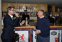 The winner of the Heads of Tails game during the Pre-match hospitality ahead of the Greene King IPA Championship match between London Scottish Football Club and Ealing Trailfinders at Richmond Athletic Ground, Richmond, United Kingdom on 26 December 2015. Photo by Alan  Stanford / PRiME Media Images