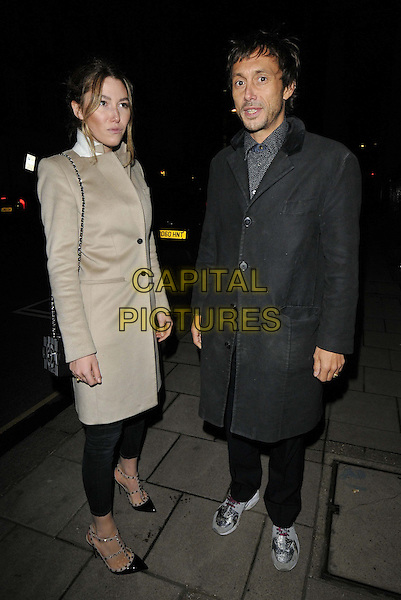 LONDON, ENGLAND - FEBRUARY 04: guest &amp; Dan McMillan attend the Ron Gorchov exhibition VIP private view, S2, St George St., on Wednesday February 04, 2015 in London, England, UK. <br /> CAP/CAN<br /> &copy;Can Nguyen/Capital Pictures