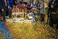 iljo Keisse's (BEL/Etixx-QuickStep) kids checking the gold<br /> <br /> 2016 Gent 6<br /> day 6