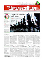 German daily die tageszeitung<br /> April 13, 2010<br /> Photographer: Martin Fejer
