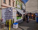 2020-02-18 Kraków. Plac Izaaka na Krakowskim Kazimierzu.