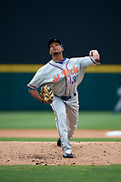 St. Lucie Mets relief pitcher Kevin Canelon (30) delivers a pitch during the first game of a doubleheader against the Lakeland Flying Tigers on June 10, 2017 at Joker Marchant Stadium in Lakeland, Florida.  Lakeland defeated St. Lucie 6-5 in fourteen innings.  (Mike Janes/Four Seam Images)