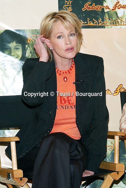 Melanie Griffith during the Press conference for the Sabera Foundation Launch in the USA at the CAA (Creative Artist Agency) in Los Angeles. October 10, 2002.           -            GriffithMelanie002.jpg