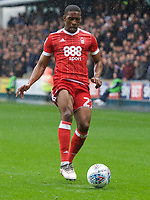 Tendayi Darikwa of Nottingham Forest during the Sky Bet Championship match between Millwall and Nottingham Forest at The Den, London, England on 30 March 2018. Photo by Alan  Stanford / PRiME Media Images.