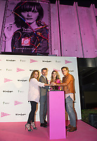 Carmen Morales, Jorge Lucas, Alejandra Onieva,  Ricard Salas<br /> Corte Ingles Superstore lights with pink the Serrano superstore joins with the AECC, Spanish Association against Cancer. In Madrid on October 10, 2017.