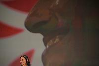 France , Paris , salle de la Mutualite . Congres d'investiture de Segolene Royal comme candidate du Parti Socialiste pour la presidentielle 2007 . Dimanche 26 novembre 2006 - ©Jean-Claude Coutausse / french-politics
