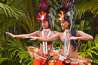 Traditional Tahitian dancers, Oahu, Hawaii