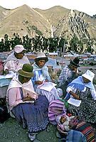 Curso de alfabetização de adultos. La paz. Bolivia. 1992. Foto de Salomon Cytrynowicz.