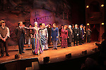 Nicholas Barasch, Peter Benson, Jessie Mueller, Betsy Wolfe, Stephanie J. Block, Chita Rivera, Jim Norton, Will Chase, Gregg Edelman, Andy Karl, Robert Creighton & Company during the Broadway Opening Night Performance Curtain Call for 'The Mystery of Edwin Drood' at Studio 54 in New York City on 11/13/2012