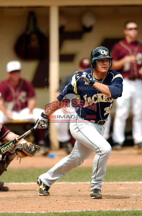 Georgia Tech SS Derek Dietrich in action vs. Boston College at Shea Field on May 22, 2010 in Chestnut Hill, MA (Photo by Ken Babbitt/Four Seam Images)