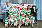Donacarney Gladiators, Calum Garland, Mark Townley, Jake McGuinness, James McElarney, Niall Gates, Sean Leahy, Aaron Farrell, Adam Carvin, James Rice, Danny Taylor-Rooney, Greg McGill and Luke Brosnan with their managers Ray Farrell and Donal Townley and Chairman of the club John Rice at the School Childrens Soccer Cup Finals in United Park...Photo NEWSFILE/Jenny Matthews.(Photo credit should read Jenny Matthews/NEWSFILE)....This Picture has been sent you under the condtions enclosed by:.Newsfile Ltd..The Studio,.Millmount Abbey,.Drogheda,.Co Meath..Ireland..Tel: +353(0)41-9871240.Fax: +353(0)41-9871260.GSM: +353(0)86-2500958.email: pictures@newsfile.ie.www.newsfile.ie.FTP: 193.120.102.198.