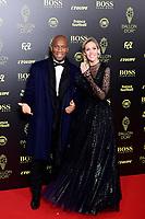 Didier Drogba et Sandy Herbert<br /> Parigi 02-12-2019 <br /> Calcio <br /> Pallone D'oro 2019 <br /> Golden Ball 2019 <br /> Ballon d'or 2019 <br /> Foto JB Autissier / Panoramic / Insidefoto