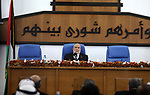 Deputy of the Legislative Council, Ahmed Bahar speaks during a meeting at the legislative council, in Gaza city on January 9, 2019. Photo by Mahmoud Ajjour