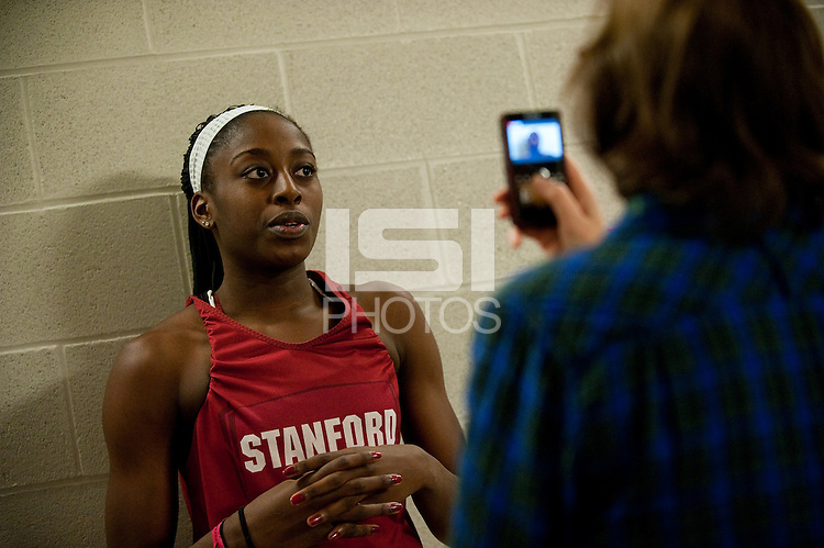 SPOKANE, WA - MARCH 27, 2011: Chiney Ogwumike, during the off-day press conferences, Stanford Women's Basketball, NCAA West Regionals on March 27, 2011.