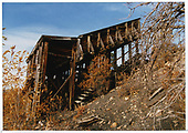 Abandoned RGS coal chute at Ute Junction.<br /> RGS  Ute Junction, CO