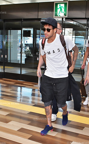 Neymar Jr, June 1, 2017, Tokyo, Japan : FC Barcelona footballer Neymar Jr. is seen at at Narita International Airport in Chiba, Japan, on June 1, 2017.
