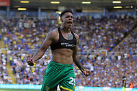 Onel Hernandez of Norwich City scores the first goal of the season for Norwich during Birmingham City vs Norwich City, Sky Bet EFL Championship Football at St Andrews on 4th August 2018