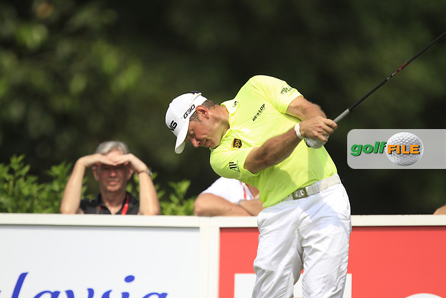 Lee Westwood (ENG) on the 7th tee during Round 4 of the CIMB Classic in the Kuala Lumpur Golf &amp; Country Club on Sunday 2nd November 2014.<br /> Picture:  Thos Caffrey / www.golffile.ie