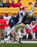 Pitt defensive back Jarred Holley (18) breaks up a pass. The Pitt Panthers defeat the Rutgers Scarlet Knights 27-6 on Saturday, November 24, 2012 at Heinz Field , Pittsburgh, PA.