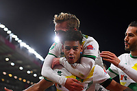 Onel Hernandez of Norwich City celebrates after scoring to make the score 1-1 during AFC Bournemouth vs Norwich City, Caraboa Cup Football at the Vitality Stadium on 30th October 2018