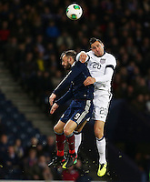 Glasgow, Scotland - Friday, November 15, 2013: The US Men's National team and the National team of Scotland played to a 0-0 draw during an International friendly match at Hampden Park.