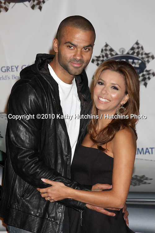 """LOS ANGELES - OCT 22:  Tony Parker, Eva Longoria-Parker arrives at the """"Rally for Kids with Cancer"""" Kick-off Party 2010 at Roosevelt Hotel on October 22, 2010 in Los Angeles, CA"""