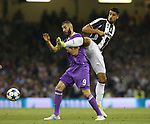 Karim Benzema of Real Madrid in action with Sami Khedira of Juventus during the Champions League Final match at the Millennium Stadium, Cardiff. Picture date: June 3rd, 2017.Picture credit should read: David Klein/Sportimage