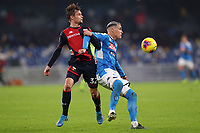 Peter Andersen of Genoa and Jose Callejon of Napoli<br /> Napoli 09-11-2019 Stadio San Paolo <br /> Football Serie A 2019/2020 <br /> SSC Napoli - Genoa CFC<br /> Photo Cesare Purini / Insidefoto