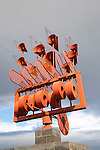 Wind sculpture weather vane by César Manrique, Arrieta, Lanzarote, Canary Islands, Spain