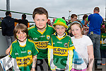 Jayden Galvin, Evan Ryan, Jonathan Galvin and Sinead Galvin at the Kerry GAA Night at Dogs Race of Champions at the Kingdom Greyhound Stadium on Friday