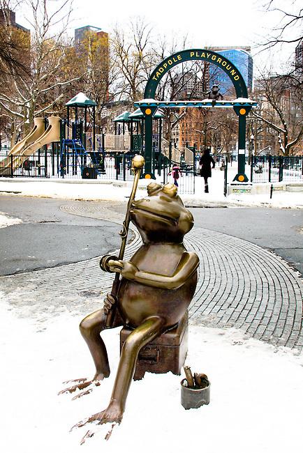 Tadpole Playground entrance. Boston Common, MA