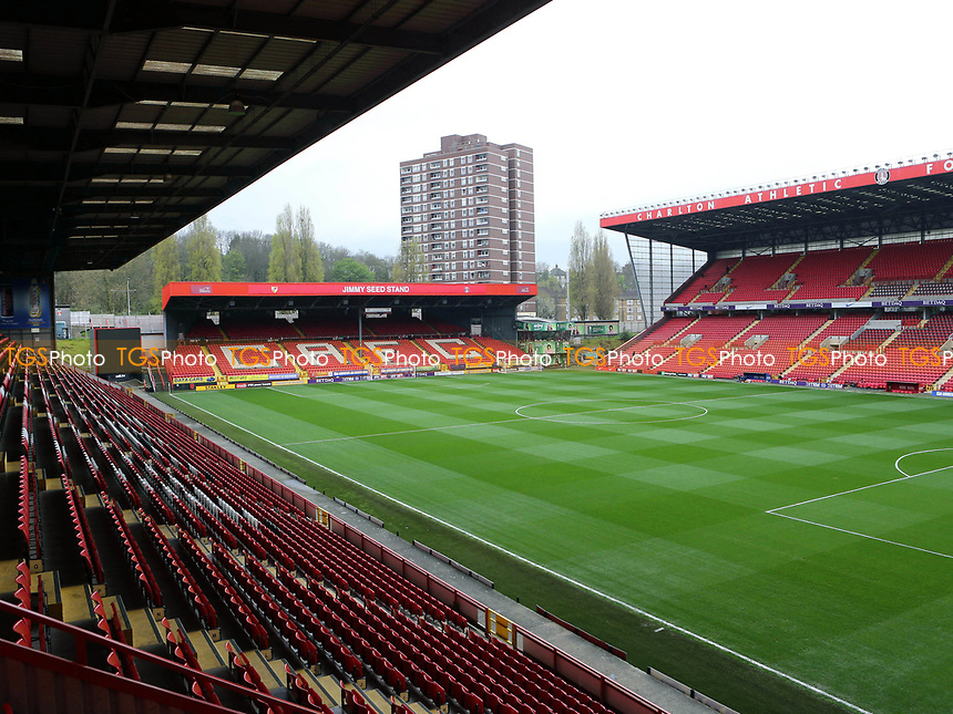 General view of Charlton Athletic ground during Charlton Athletic vs MK Dons, Sky Bet EFL League 1 Football at The Valley on 4th April 2017