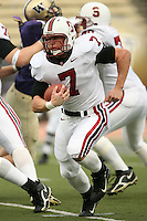 11 November 2006: Toby Gerhart during Stanford's 20-3 win over the Washington Huskies in Seattle, WA.