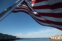 Alcatraz nella foto bandiera Stati Uniti d&rsquo;America geografico San Francisco 25/09/2017 foto Matteo Biatta<br /><br />Alcatraz in the picture flag of United States of America geographic San Francisco 25/09/2017 photo by Matteo Biatta