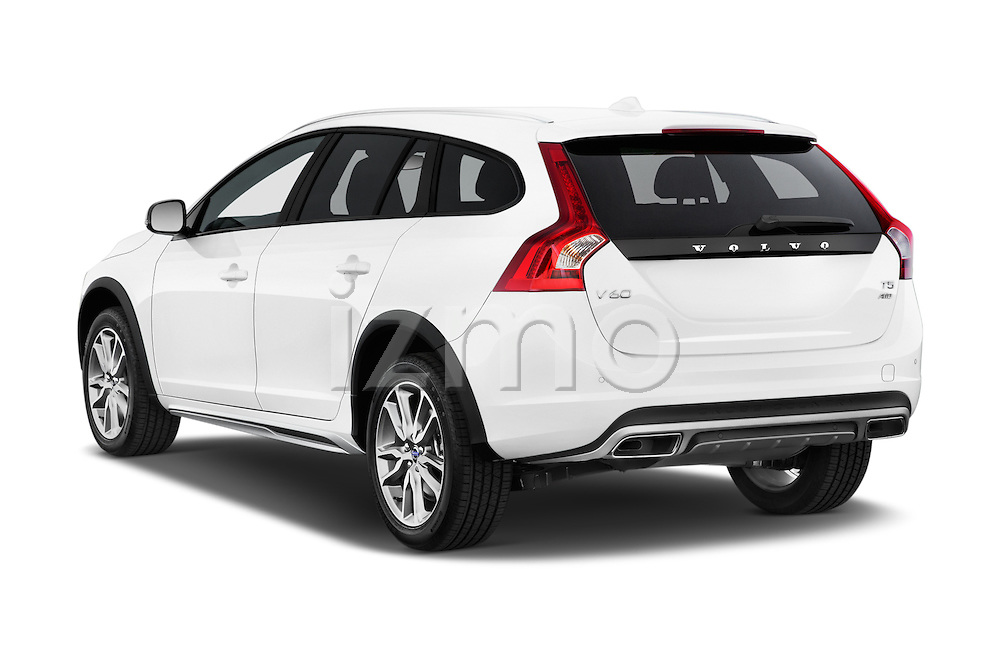 Car pictures of rear three quarter view of 2018 Volvo V60 T5-Cross-Country 5 Door Wagon Angular Rear