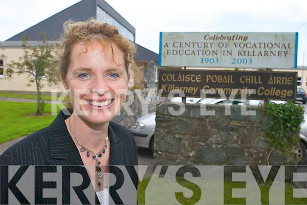 Killarney Community College's new principal Fiona O'Brien busy preparing for the new school year on Tuesday