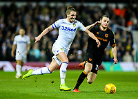 Leeds United's Luke Ayling takes on Hull City's Will Keane<br /> <br /> Photographer Alex Dodd/CameraSport<br /> <br /> The EFL Sky Bet Championship - Leeds United v Hull City - Saturday 29th December 2018 - Elland Road - Leeds<br /> <br /> World Copyright © 2018 CameraSport. All rights reserved. 43 Linden Ave. Countesthorpe. Leicester. England. LE8 5PG - Tel: +44 (0) 116 277 4147 - admin@camerasport.com - www.camerasport.com