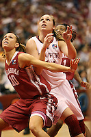SAN ANTONIO, TX - APRIL 4:  Kayla Pedersen of the Stanford Cardinal during Stanford's 73-66 win over Oklahoma in the Final Four semi-finals at the Alamo Dome on April 4, 2010 in San Antonio, Texas.