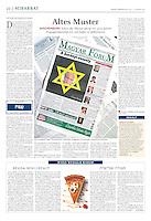Jüdische Allgemeine (Jewish weekly, Germany) on traditions of antisemitism, 2013.01.03. Photo: Martin Fejer