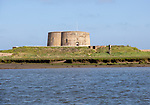 Lady Florence boat trip cruise River Ore, Orford Ness, Suffolk, England - Martello Tower CC (No. 1) at Slaughden