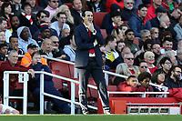 Arsenal manager Unai Emery during Arsenal vs Southampton, Premier League Football at the Emirates Stadium on 24th February 2019
