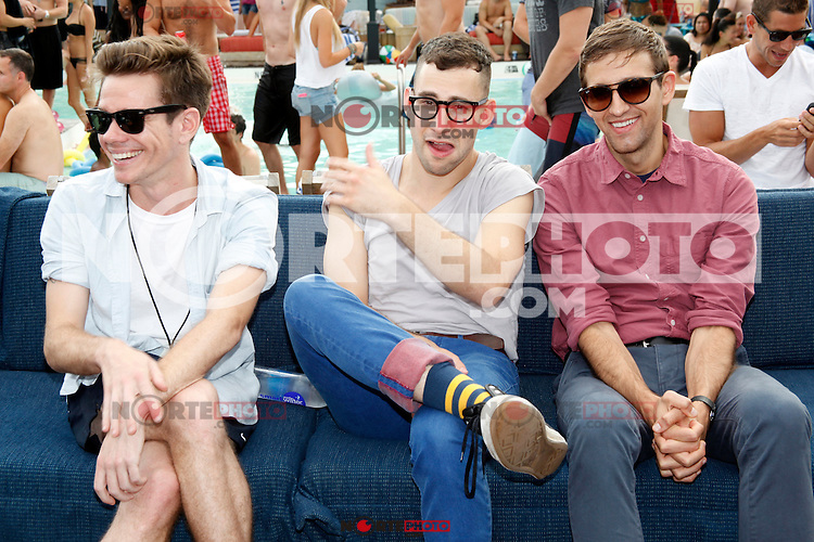 PHILADELPHIA, PA - AUGUST 2, 2012: fun. pictured at North Shore Beach Club in Philadelphia, Pa on August 2, 2012. &copy; Star Shooter / MediaPunch Inc. /NortePhoto.com<br />