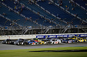 #18: Noah Gragson, Kyle Busch Motorsports, Toyota Tundra Safelite AutoGlass and #8: John Hunter Nemechek, NEMCO Motorsports, Chevrolet Silverado