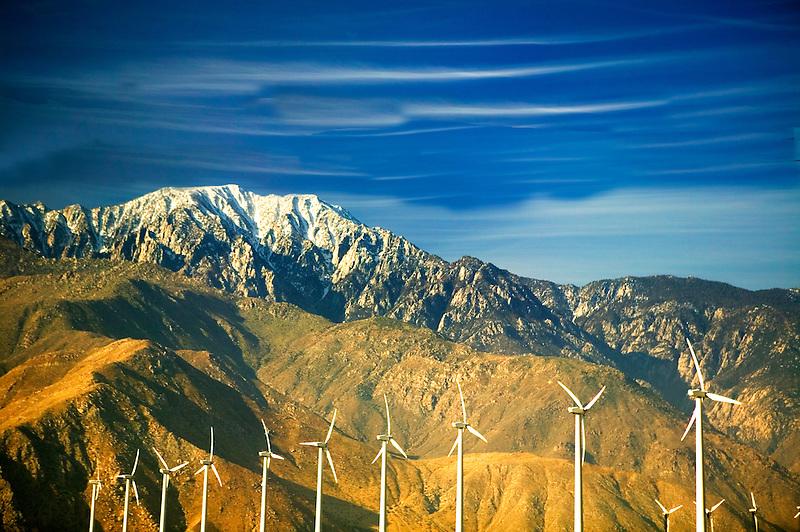 Wind turbanes. Near Palm Springs, California