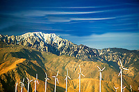Wind turbanes. Near Palm Springs, California