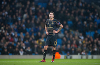 Mikael Lustig of Celtic during the UEFA Champions League GROUP match between Manchester City and Celtic at the Etihad Stadium, Manchester, England on 6 December 2016. Photo by Andy Rowland.
