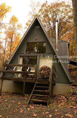An alpine chalet at the Coolfont Recreation resort in Berkeley Springs, West Virginia on October 23, 2004. .Credit: Ron Sachs / CNP