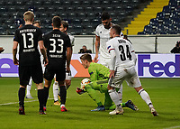 Torwart Jonas Omlin (FC Basel) haelt - 12.03.2020: Eintracht Frankfurt vs. FC Basel, UEFA Europa League, Achtelfinale, Commerzbank Arena<br /> DISCLAIMER: DFL regulations prohibit any use of photographs as image sequences and/or quasi-video.