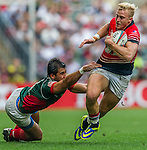 Hong Kong vs Mexico during their HSBC Sevens Wold Series Qualifier match as part of the Cathay Pacific / HSBC Hong Kong Sevens at the Hong Kong Stadium on 27 March 2015 in Hong Kong, China. Photo by Juan Manuel Serrano / Power Sport Images